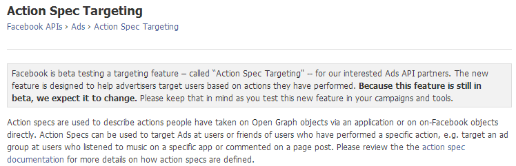 Action-Spec-Targeting-Facebook-Developers